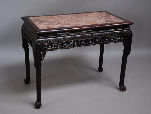 Qing Dynasty Chinese hardwood centre table