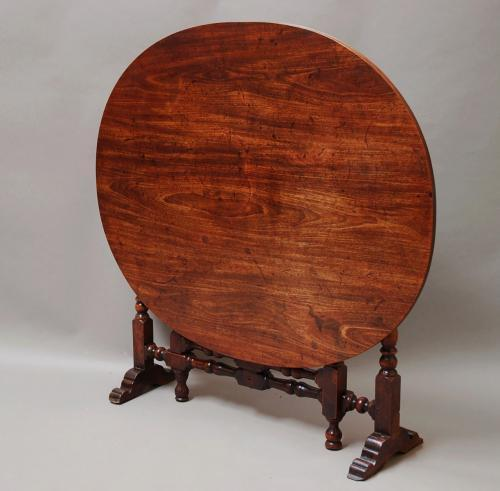17thc yew wood & mahogany coaching table