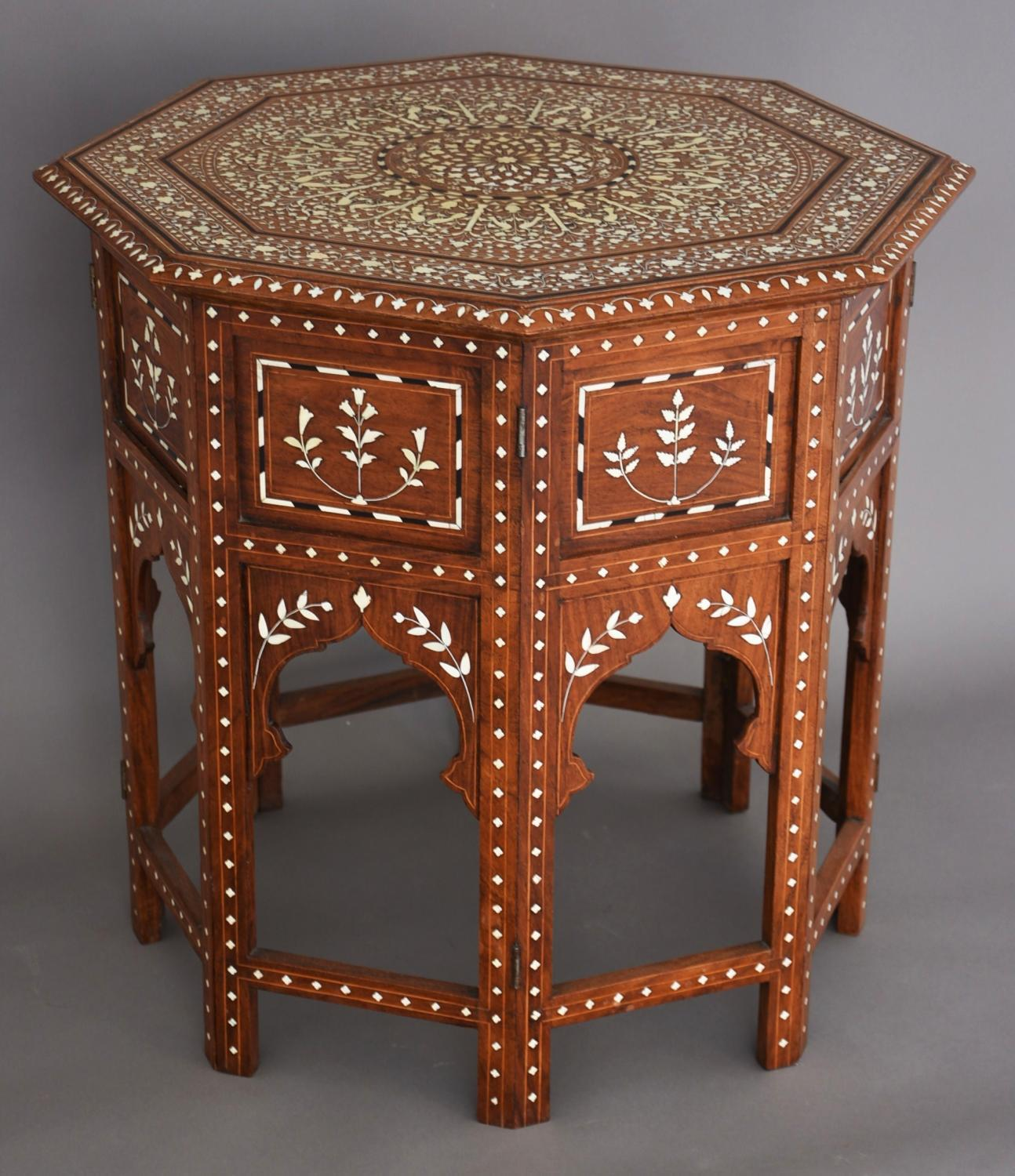 Superb quality inlaid Anglo Indian table