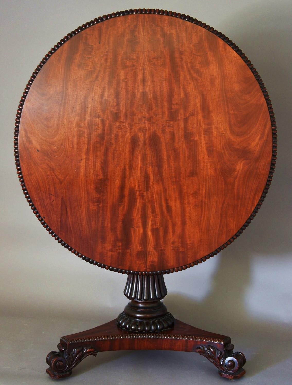 19thc mahogany tilt top centre table