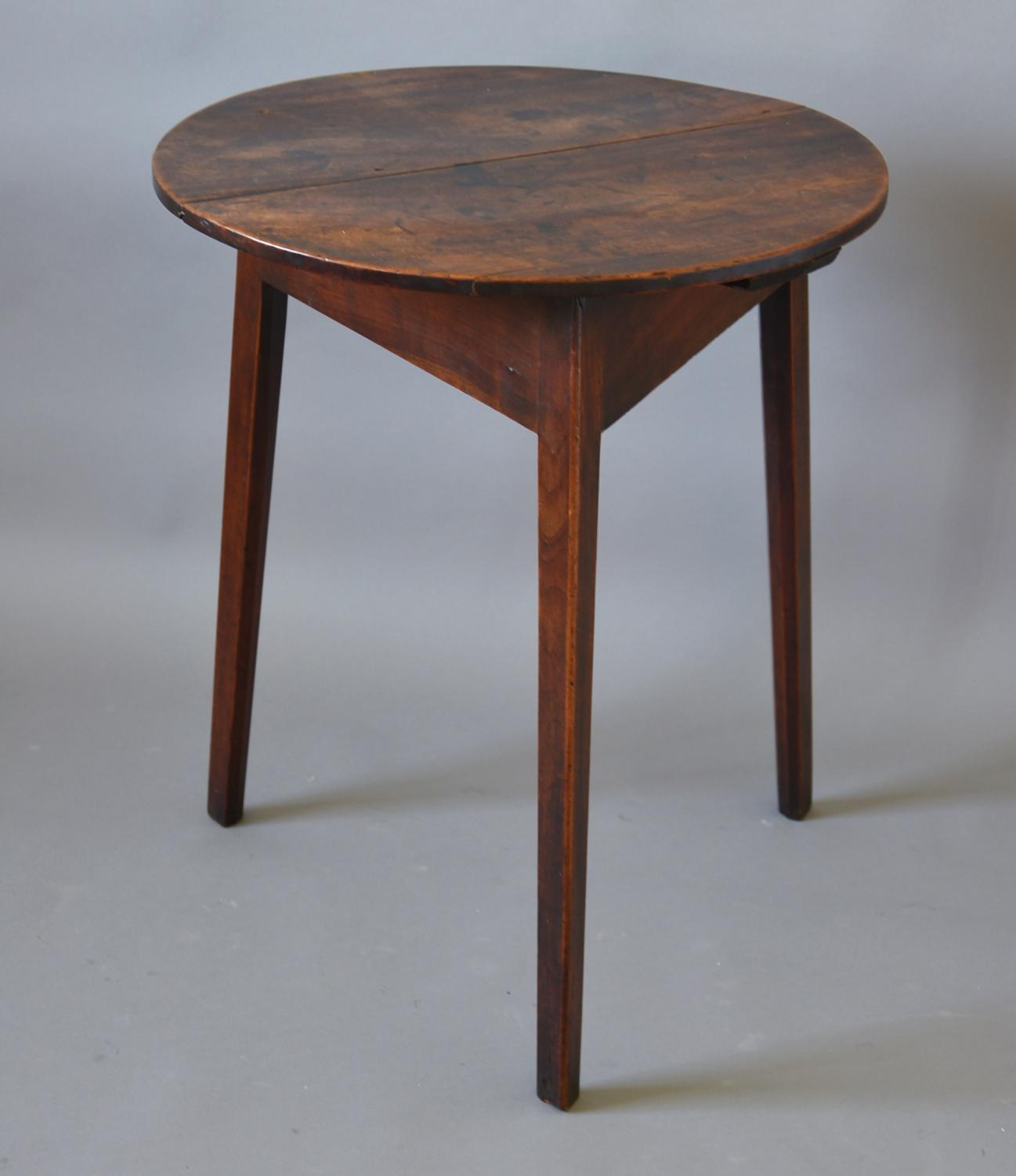 18thc fruitwood cricket table of super patina