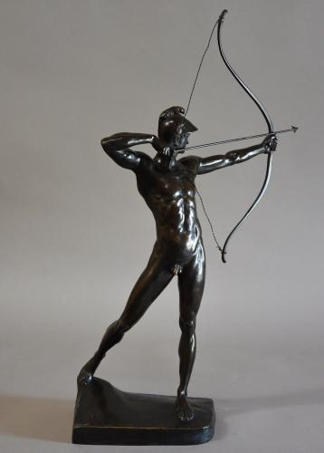 Bronze figure 'The Archer' by EM Geyger