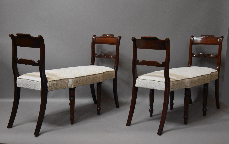 Superb pair of mahogany window seats