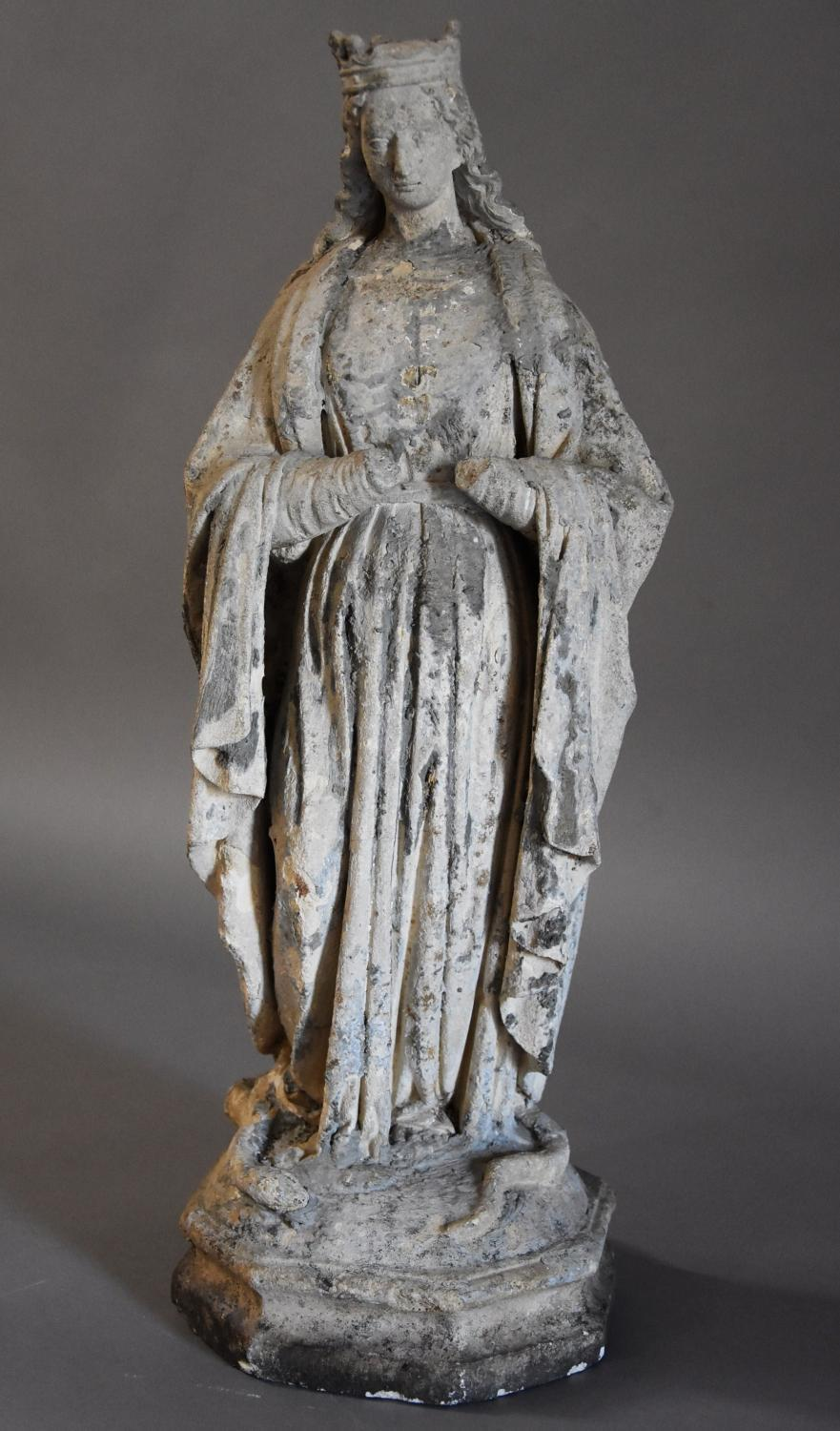 French limestone sculpture of Virgin Mary