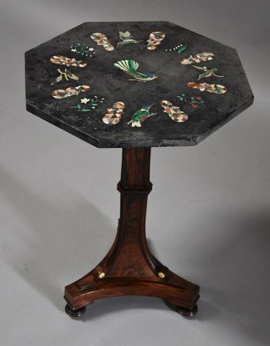 Superb Regency rosewood Pietre Dure table