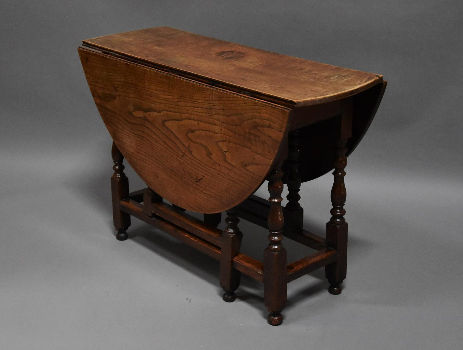 ... Early 18thc Oak And Ash Oval Gateleg Table   Picture 10 ...