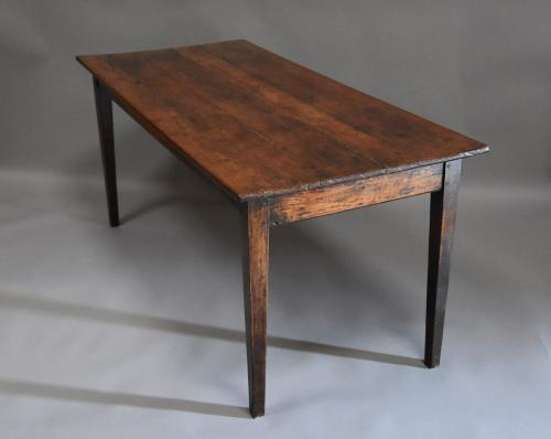 French 19thc fruitwood & elm farmhouse table