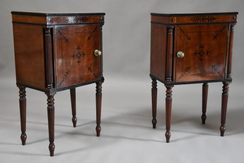 Pair of Regency mahogany bedside cabinets