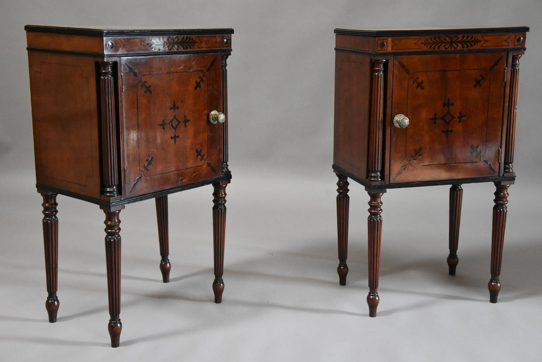 Pair of Regency mahogany bedside cabinets