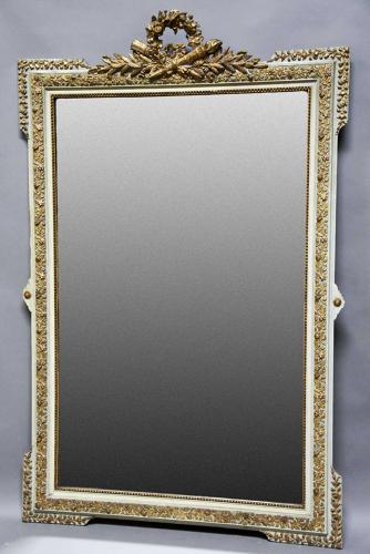 Large 19thc French gilt & painted mirror