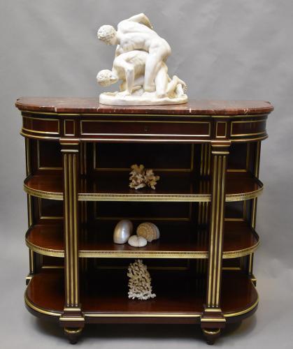 19thc French Empire mahogany & brass etagere