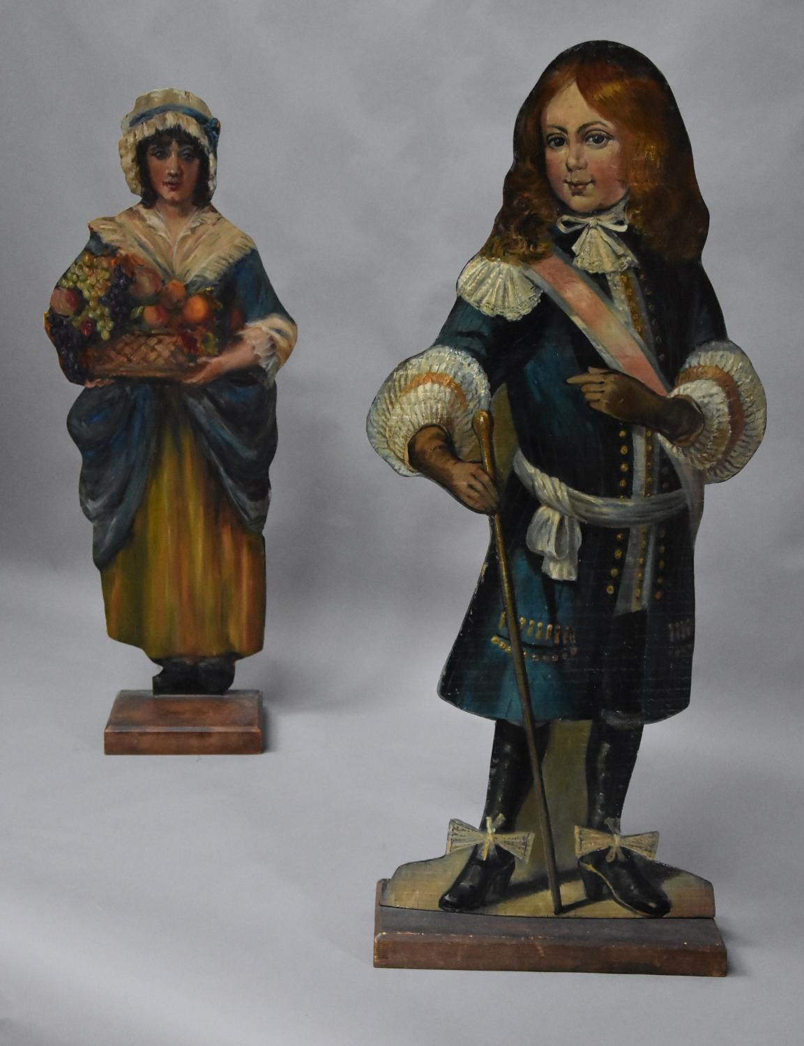 Pair of 19thc highly decorative dummy boards