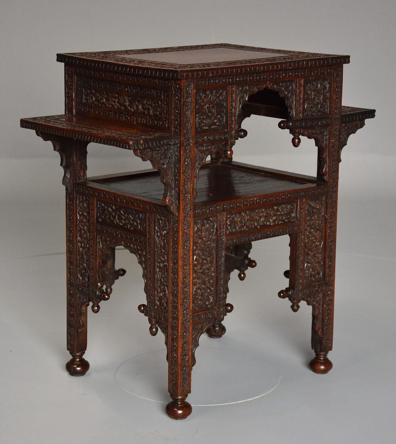 19thc Anglo Indian padouk occasional table