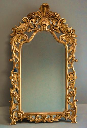 Large mid 19thc Italian giltwood mirror