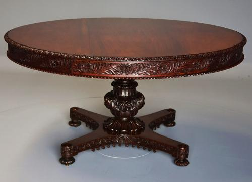 Large 19thc Anglo Indian padouk centre table