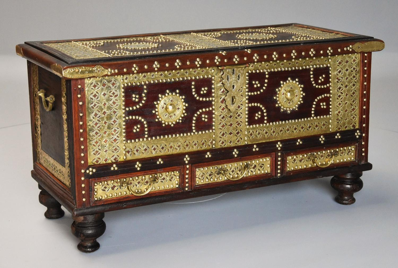 19thc highly decorative Zanzibar trader chest