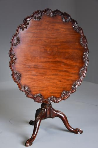 Chippendale style mahogany tilt top tea table