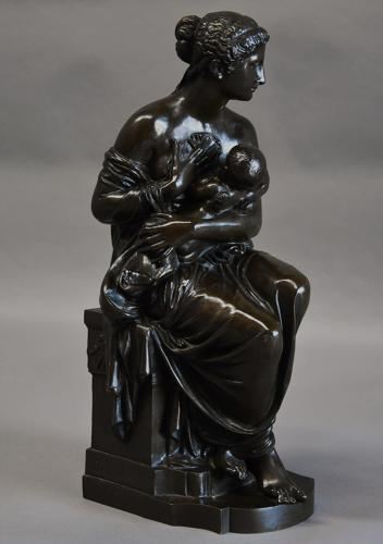 Bronze figure of Venus & Cupid