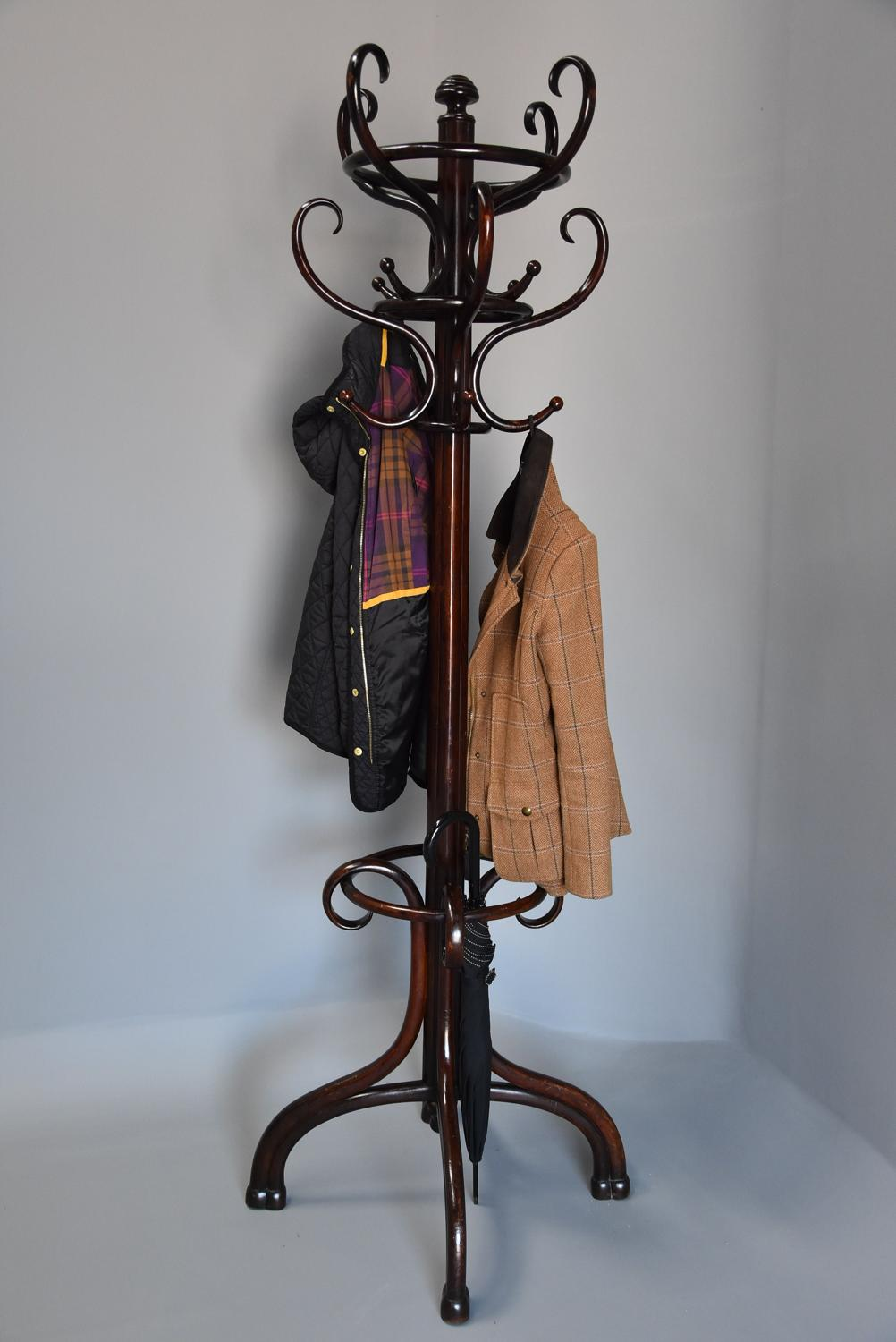 Original bentwood hat stand stamped 'Thonet'