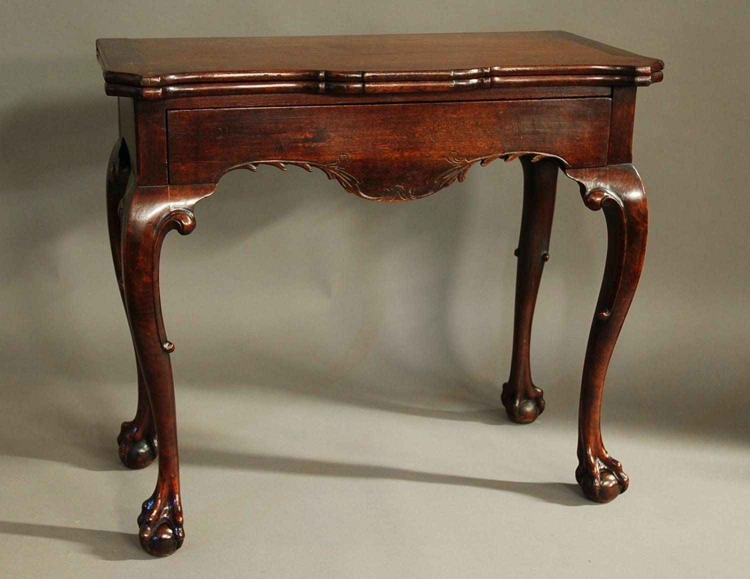 18thc Irish American black walnut tea table