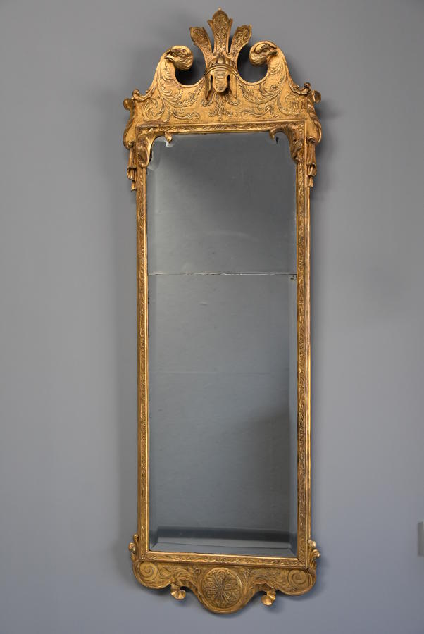 Large & rare George I giltwood pier mirror