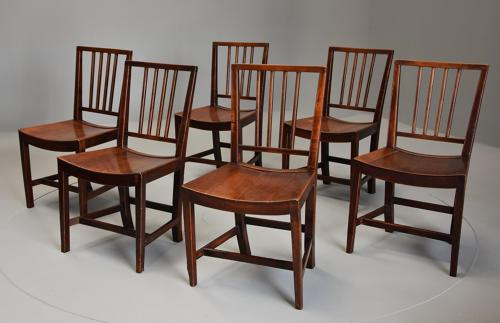 Set of six East Anglian fruitwood chairs in exceptional condition