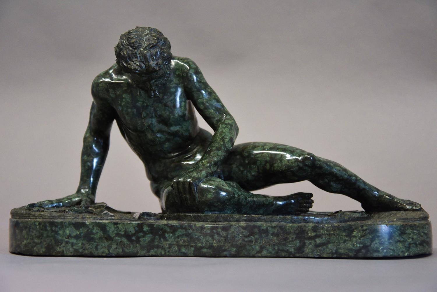 Late 19th century Grand Tour serpentine figure of the 'Dying Gaul'