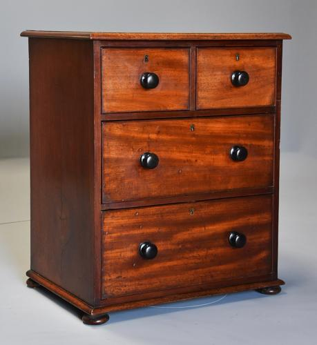 Mid 19th century small mahogany chest of drawers