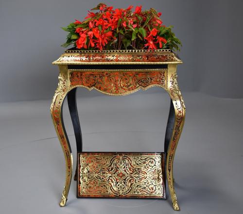 French 19th century Napoleon III boulle marquetry jardiniere table