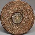 Late 19thc Anglo Indian circular hardwood inlaid occasional table - picture 5