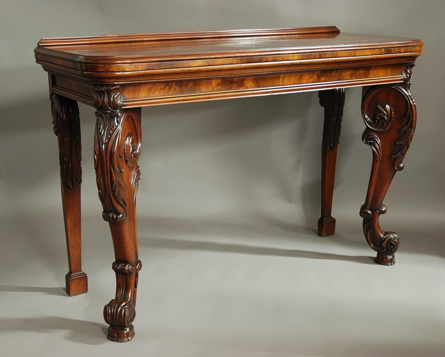 Superb quality William IV mahogany console table in Gillows manner