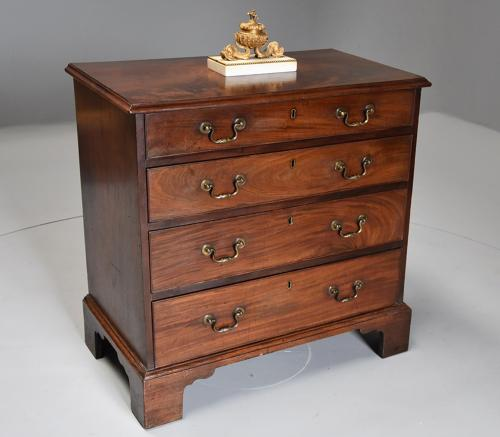 Late 18thc small Georgian mahogany chest of drawers