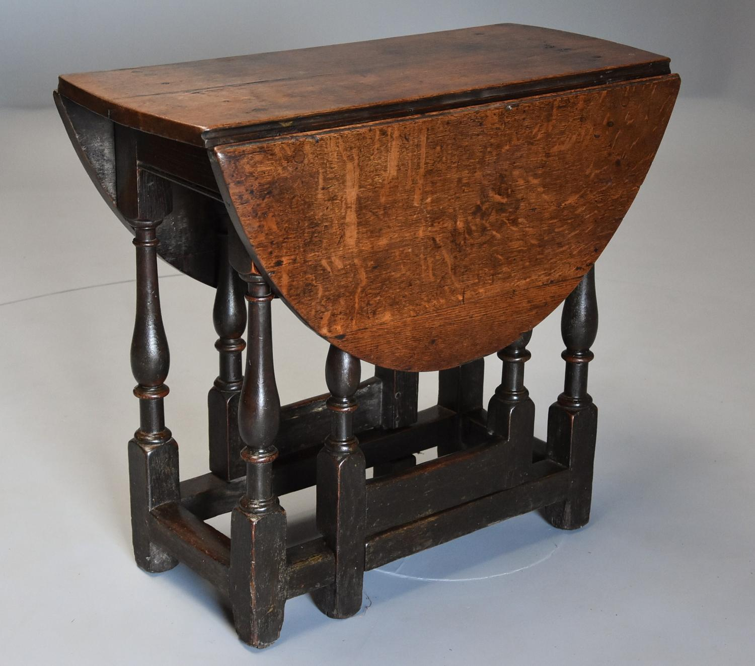 Late 17th century small oak gateleg table of good patina