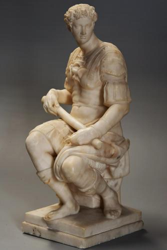 19thc Italian sculpture of Guiliano de Medici,original by Michelangelo