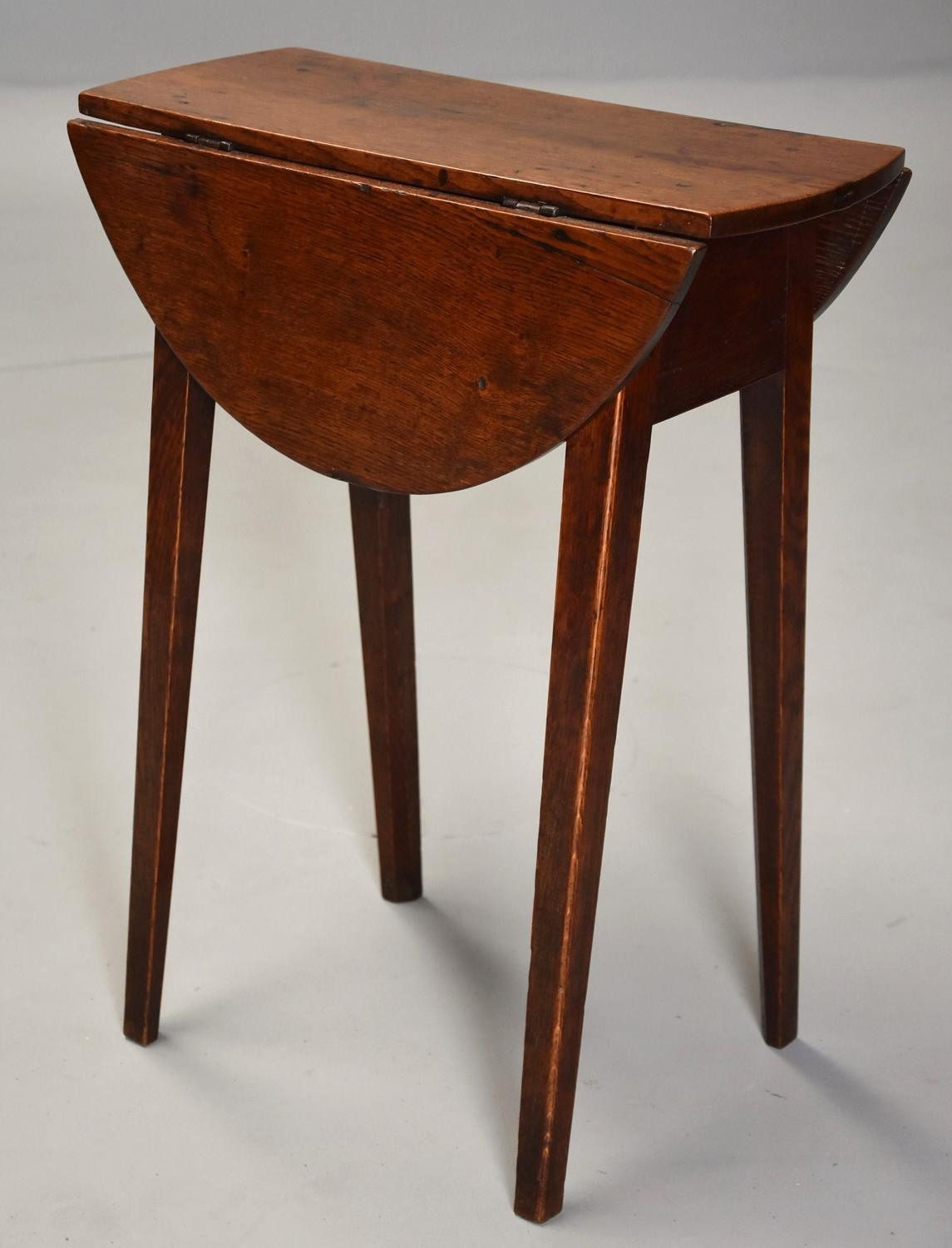 Rare late 18th century ash oak drop leaf table of small for Table th width