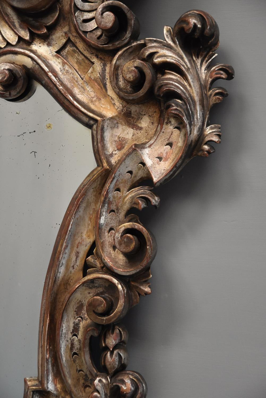 Highly decorative 19thc italian silver giltwood rococo for Rococo decorative style