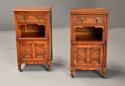 Pair of 19thc satin birch bedside cabinets with Aesthetic influence - picture 1
