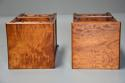 Pair of 19thc satin birch bedside cabinets with Aesthetic influence - picture 12