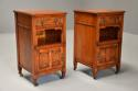 Pair of 19thc satin birch bedside cabinets with Aesthetic influence - picture 2