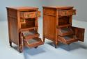 Pair of 19thc satin birch bedside cabinets with Aesthetic influence - picture 3