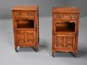 Pair of 19thc satin birch bedside cabinets with Aesthetic influence - picture 5