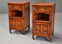 Pair of 19thc satin birch bedside cabinets with Aesthetic influence - picture 6