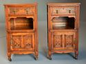 Pair of 19thc satin birch bedside cabinets with Aesthetic influence - picture 7