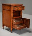 Pair of 19thc satin birch bedside cabinets with Aesthetic influence - picture 8
