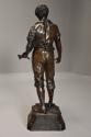 19thc large bronzed spelter figure of a farm labourer, signed Milliot - picture 10