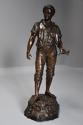 19thc large bronzed spelter figure of a farm labourer, signed Milliot - picture 5