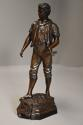 19thc large bronzed spelter figure of a farm labourer, signed Milliot - picture 6