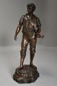 19thc large bronzed spelter figure of a farm labourer, signed Milliot - picture 7