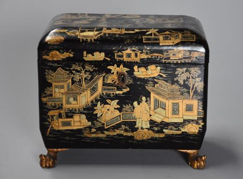 19th century Regency Chinoiserie style casket