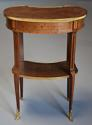 Late 19thc French parquetry Kingwood kidney shaped occasional table - picture 11